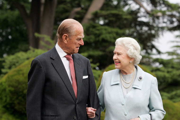 Image: Queen Elizabeth II and Prince Philip re-visit Broadlands to mark their Diamond Wedding Anniversary in Hampshire, England, on Nov. 18, 2007