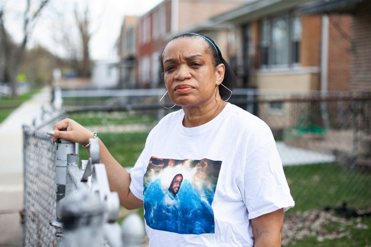 Image: Angela McMiller poses for a portrait outside her home in Chicago on April 6, 2021.