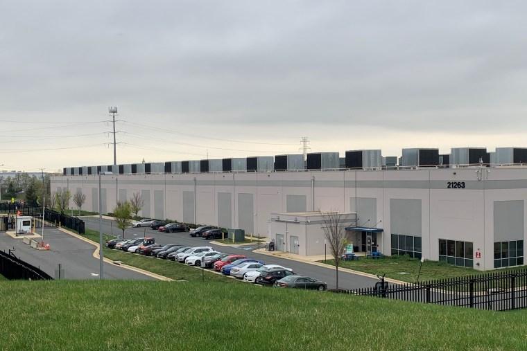Image:; Amazon's data center in Ashburn, Va.