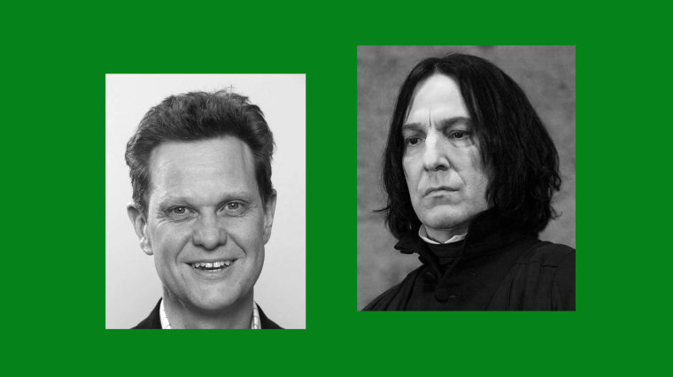 Dr. Matthew Snape from Oxford Paediatrics and Alan Rickman as Hogwarts' potions master Professor Severus Snape.