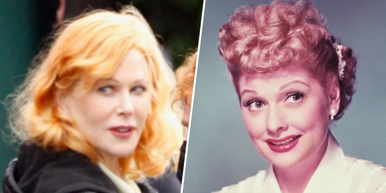 "Nicole Kidman plays Lucille Ball in a new film, ""Being the Ricardos."""