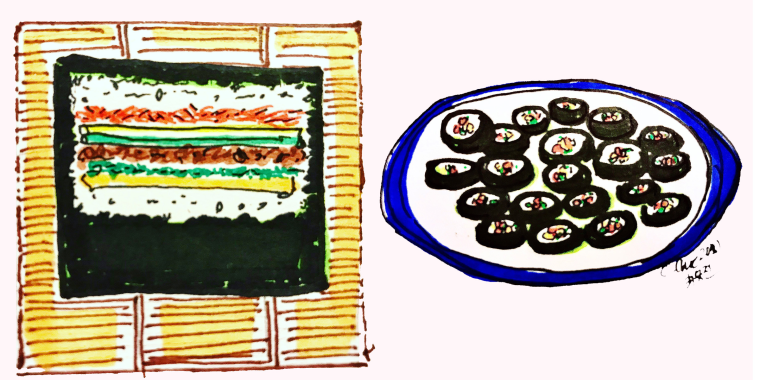 While sushi and kimbap do have similarities, kimbap has an identity all its own.