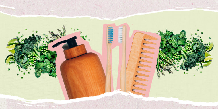 Illustration of eco friendly beauty products