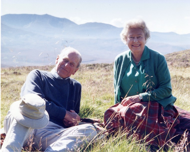 Handout image of a personal photograph of the Britain's Queen Elizabeth II and Prince Philip