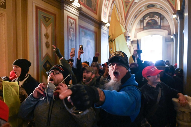 Image: Supporters of President Donald Trump protest inside the Capitol