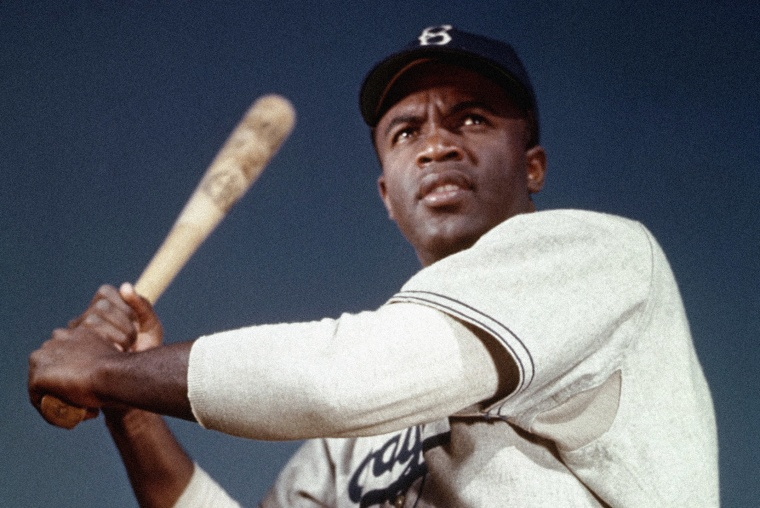 Image: Jackie Robinson of the Brooklyn Dodgers in 1953.