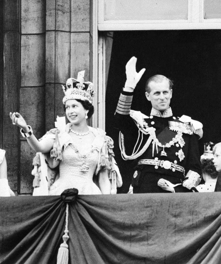 Image: Queen Elizabeth II and Prince Philip in 1953