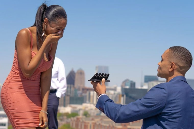 William Hunn gave his future bride five different ring options when he proposed to her last week.