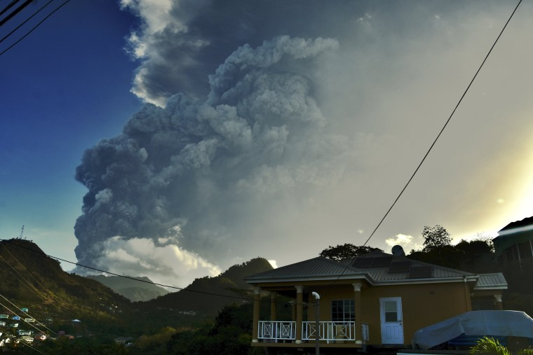 Roughly 20,000 people displaced by ongoing volcanic eruptions in St. Vincent