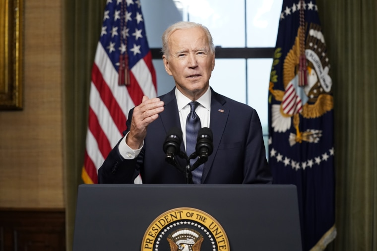 Image: President Biden Delivers Address On Afghanistan From White House Treaty Room