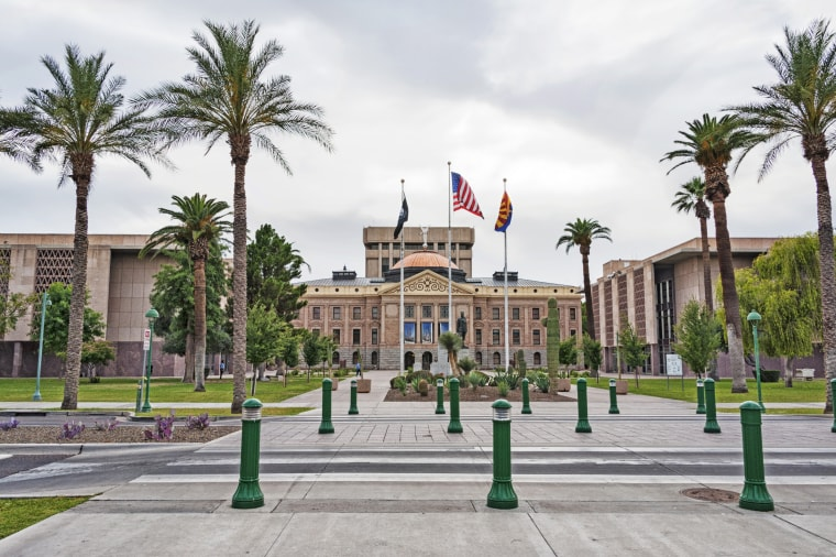 The Arizona State Capitol building in Phoenix.