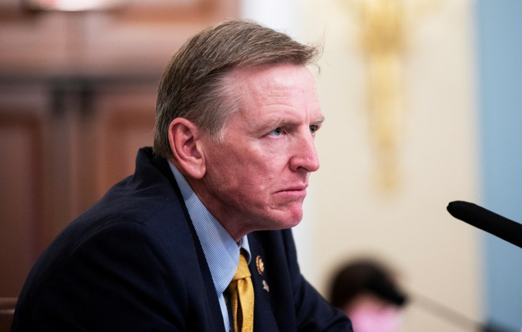 Rep. Paul Gosar, R-Ariz., speaks during a House hearing on July 28, 2020.
