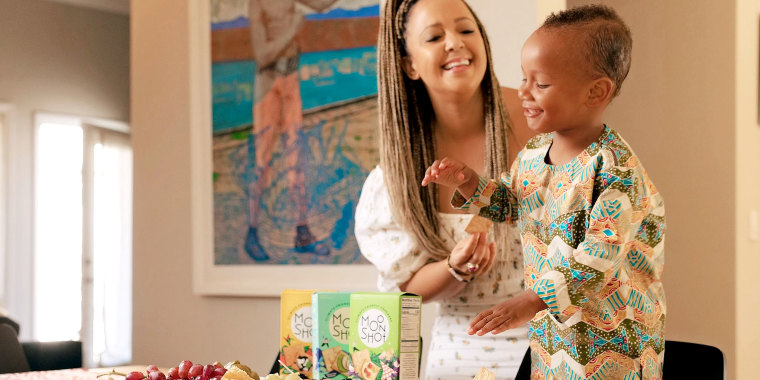 Julia Collins launched her climate-friendly cracker business, Moonshot, after her son was born.