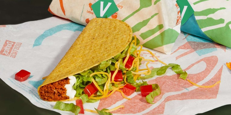 Taco Bell is testing the Cravetarian Taco.