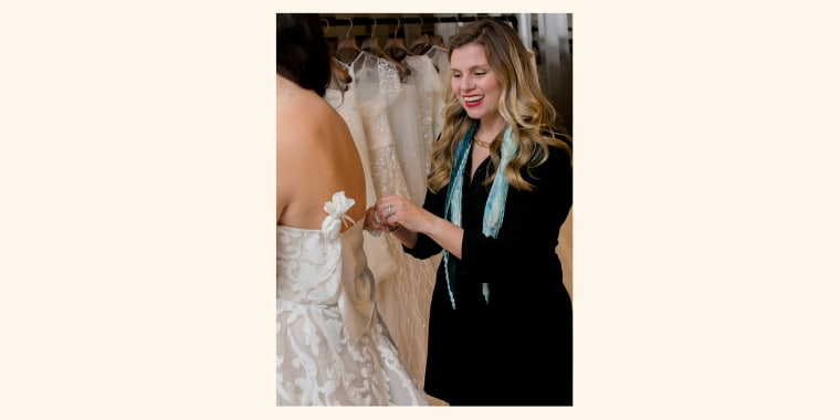 """You want to be able to go out of the dressing room with confidence and feel good,"" said bridal stylist Julie Sabatino."