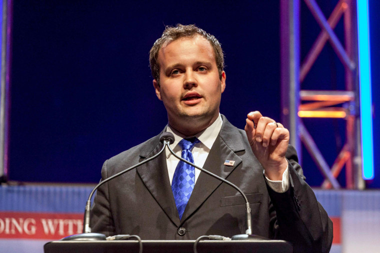 Image: Josh Duggar, Executive Director of the Family Research Council Action, speaks at the Family Leadership Summit in Ames, Iowa on Aug. 9, 2014.