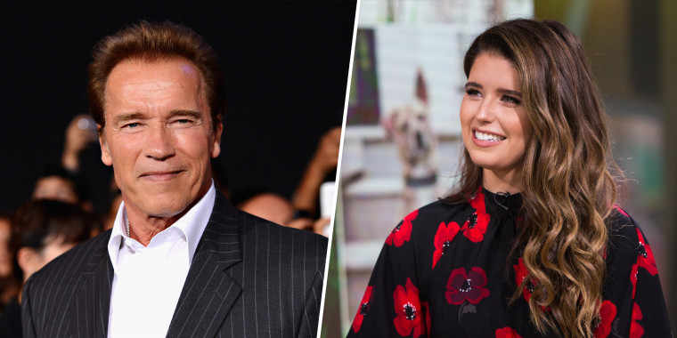 Arnold Schwarzenegger became a grandfather to daughter Katharine's firstborn last August.