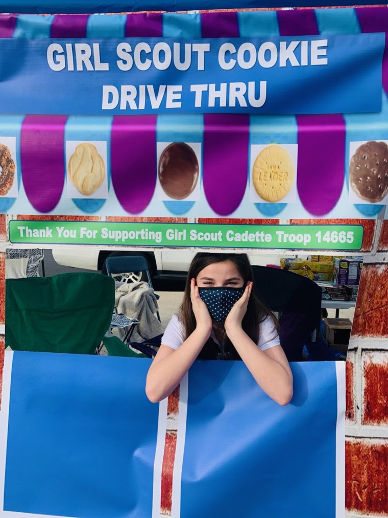 Local Girl Scouts in Atlanta got creative and hosted drive-thru cookie pop-up shops this season.