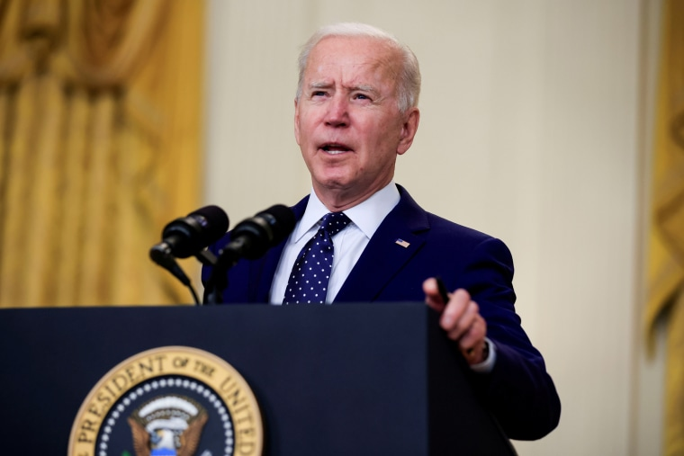 Image: President Biden delivers remarks at the White House in Washington