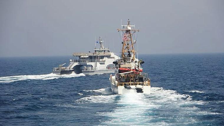 Image: Iranian and U.S. vessels