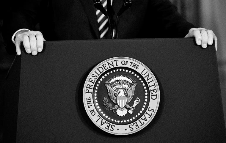 IMage: President Joe Biden at the State Department in Washington on Feb. 4, 2021.