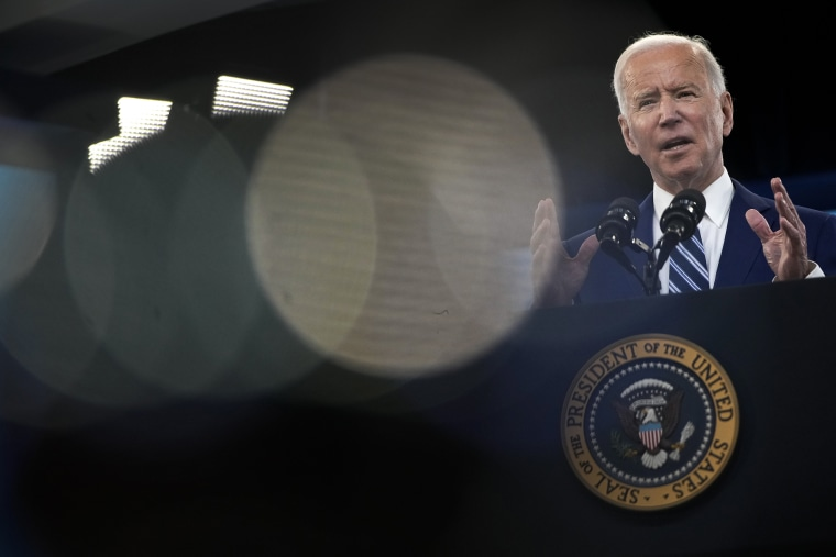 Image: President Joe Biden delivers remarks in Washington on March 29, 2021.