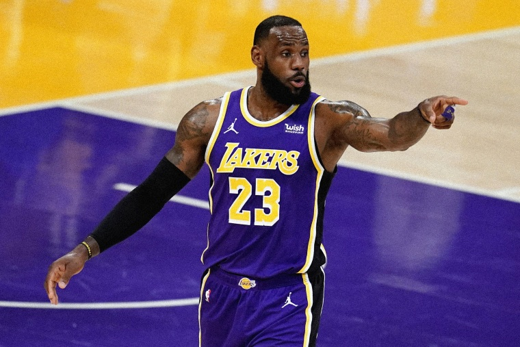 Image: LeBron James of the Los Angeles Lakers on March 18, 2021.
