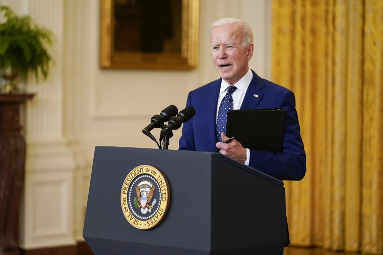 President Joe Biden speaks in the East Room of the White House on April 15, 2021.