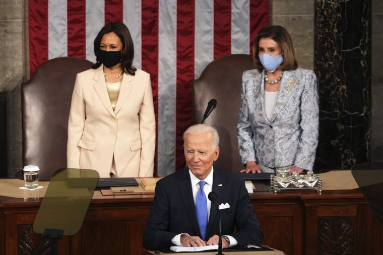 President Joe Biden speaks to a joint session of Congress on April 28, 2021.