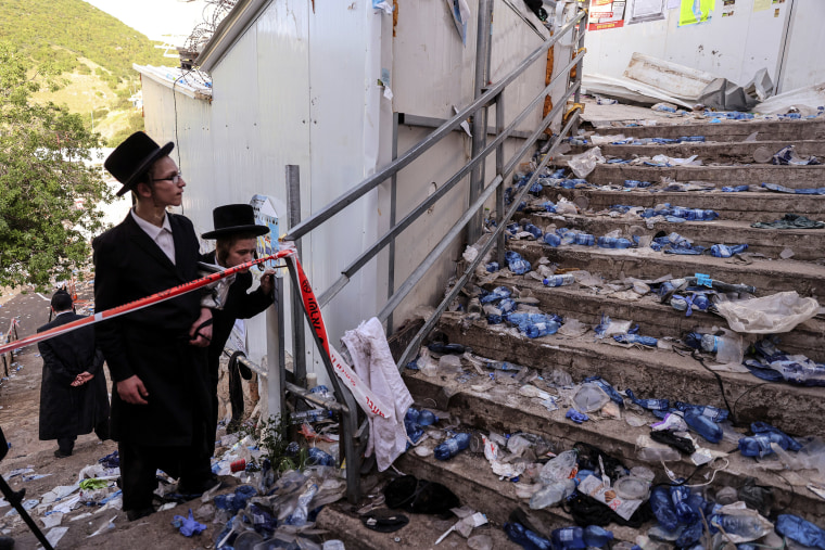 Image: Ultra Orthodox Jews at Mount Meron