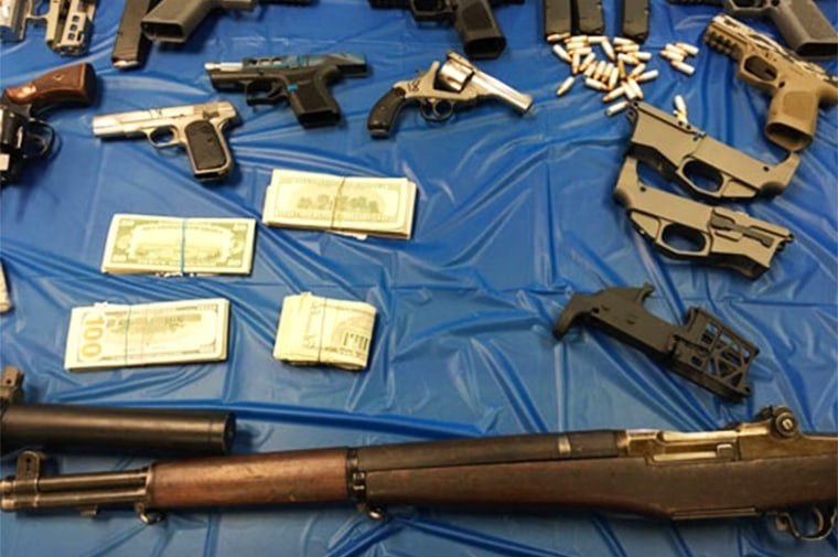 IMAGE: Ghost guns seized in the Pennsylvania raid
