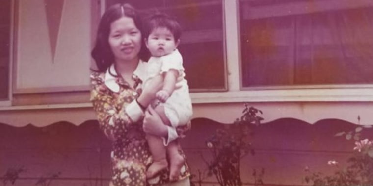 The author, NBC News producer Jamie Nguyen, with her mother, who was pregnant when she fled Communist Vietnam in search of a better life. Her mother named her after the Bionic Woman, Jamie Summers — the show was popular, and it was the only American name her mother knew.