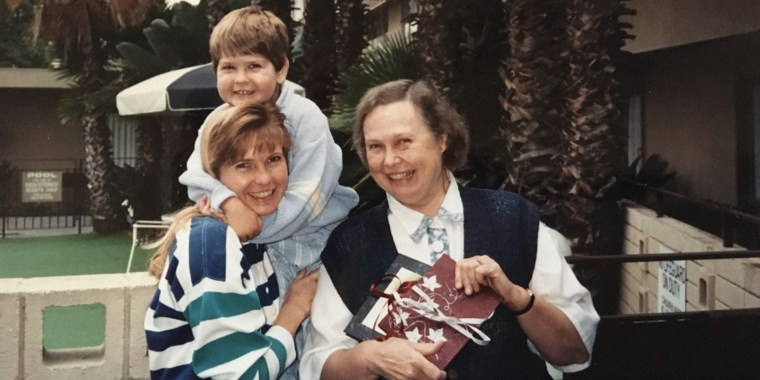 Carol Smith shares a happy moment with her son, Christopher, and her mother in the early 1990s.