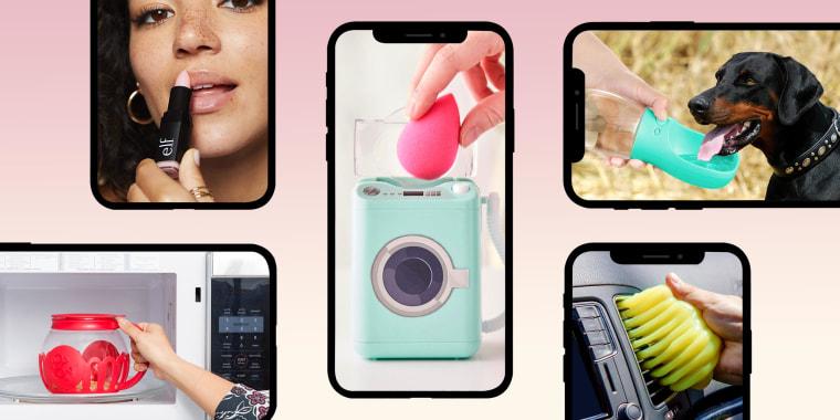 Illustration of 5 different popular Tik Tok products