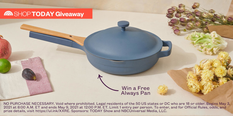 Our Place Always Pan Giveaway imagery with Legal text on the bottom
