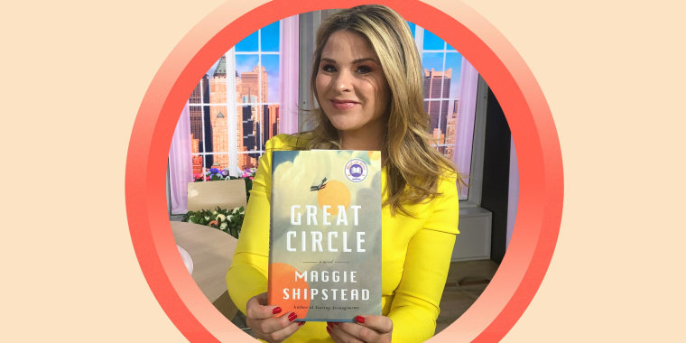 Jenna Bush Hager holds up Great Circle by Maggie Shipstead