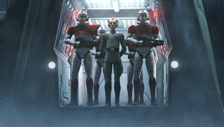 """Admiral Tarkin in a scene from \""""Star Wars: The Bad Batch.\"""""""