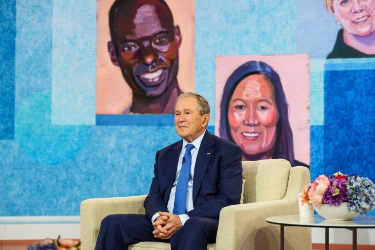 "Image: George W. Bush on NBC's \""TODAY\"""
