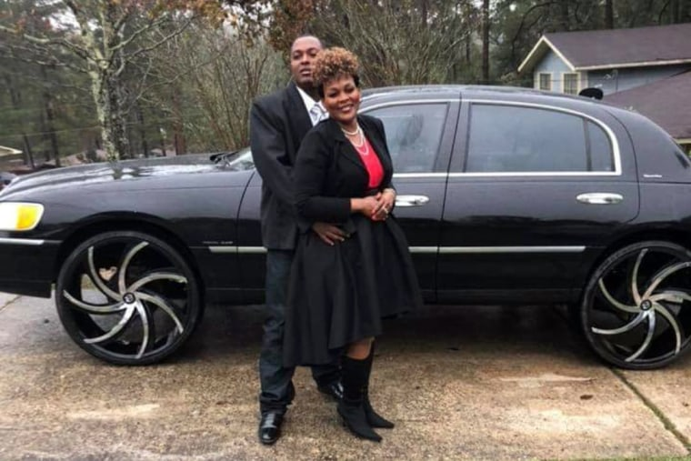 Image: Carlos Lynn with his wife Beverly