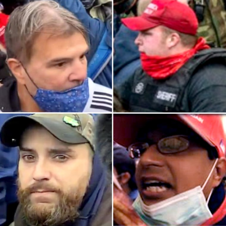 IMAGE: Suspects sought by the FBI in the Capitol riot