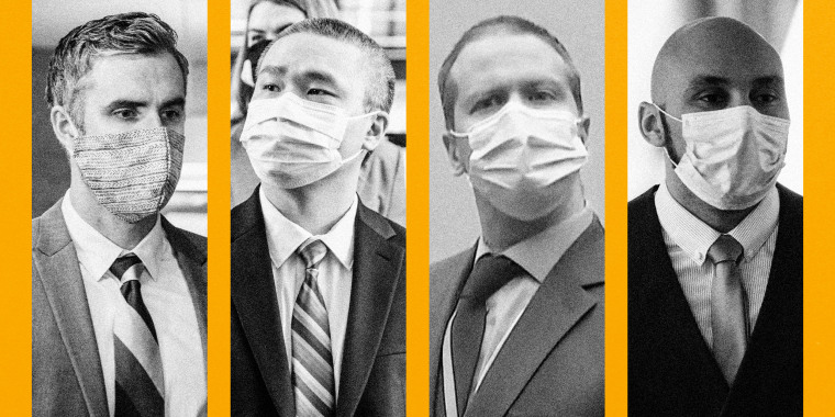 Former Minneapolis Police Officers Thomas Lane, Tou Thao, Derek Chauvin, and J. Alexander Kueng.