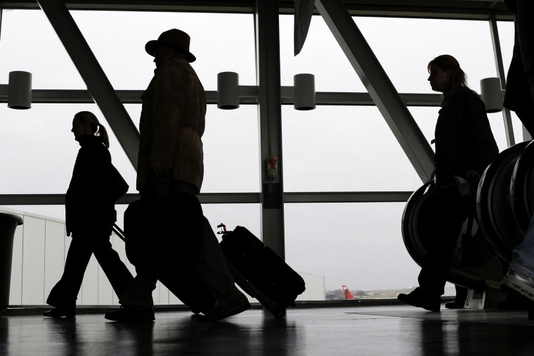 Image: Airline passengers, silhouette
