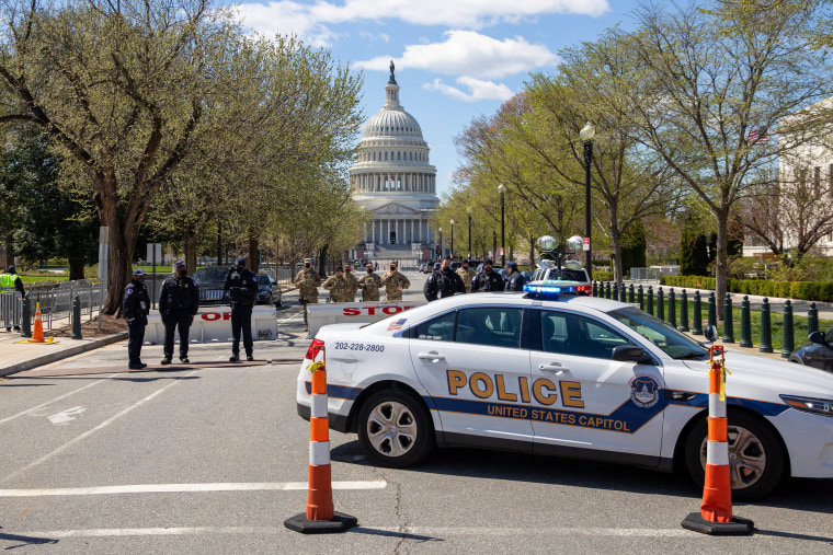 Two officers struck by car at us capitol