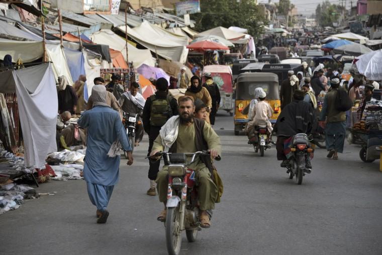 IMAGE: A market area in Kandahar, Afghanistan