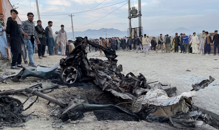 Image: Site of a blast in Kabul