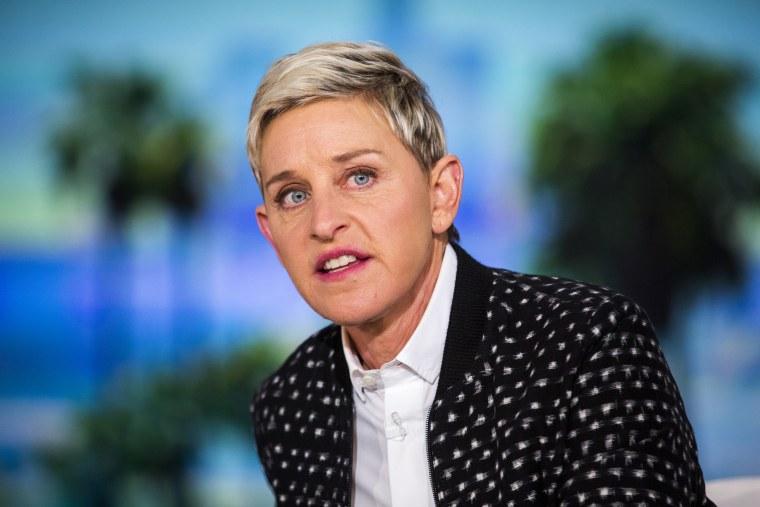 Ellen DeGeneres during a taping of The Ellen DeGeneres Show, on May 24, 2016, in Burbank, Calif.
