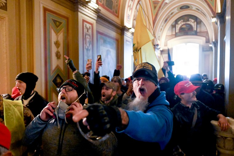 Image: Supporters of President Donald Trump protest inside the Capitol on Jan. 6, 2021.