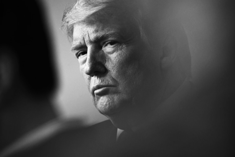 Image: President Donald Trump during a  meeting at the White House on April 5, 2020.