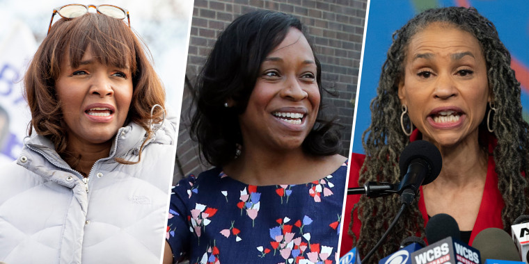 (L-R) Kathy Barnette, Andrea Campbell and Maya Wiley are all expected to run in the 2022 midterms.