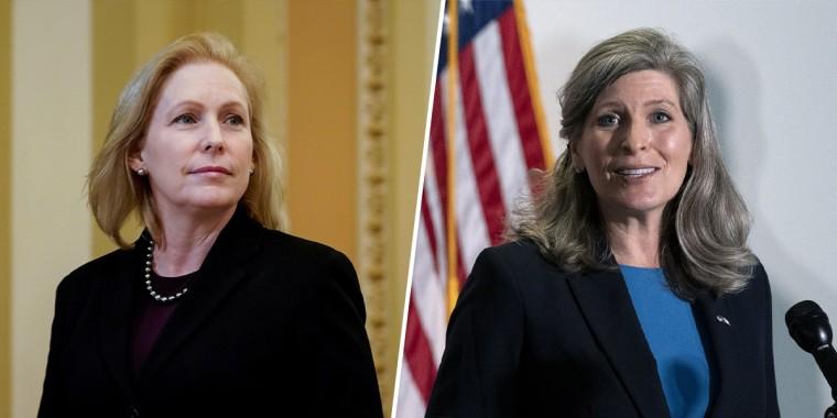 Sen. Kirsten Gillibrand, D-N.Y.; Sen. Joni Ernst, R-Iowa.
